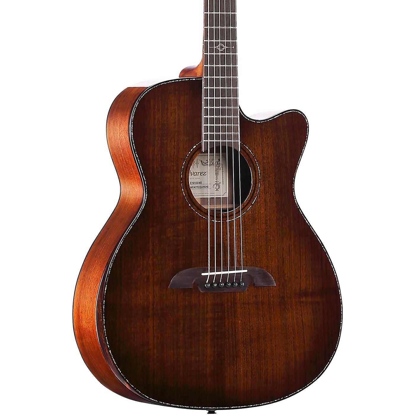 Alvarez MFA77CEAR Masterworks Folk Acoustic-Electric Guitar thumbnail