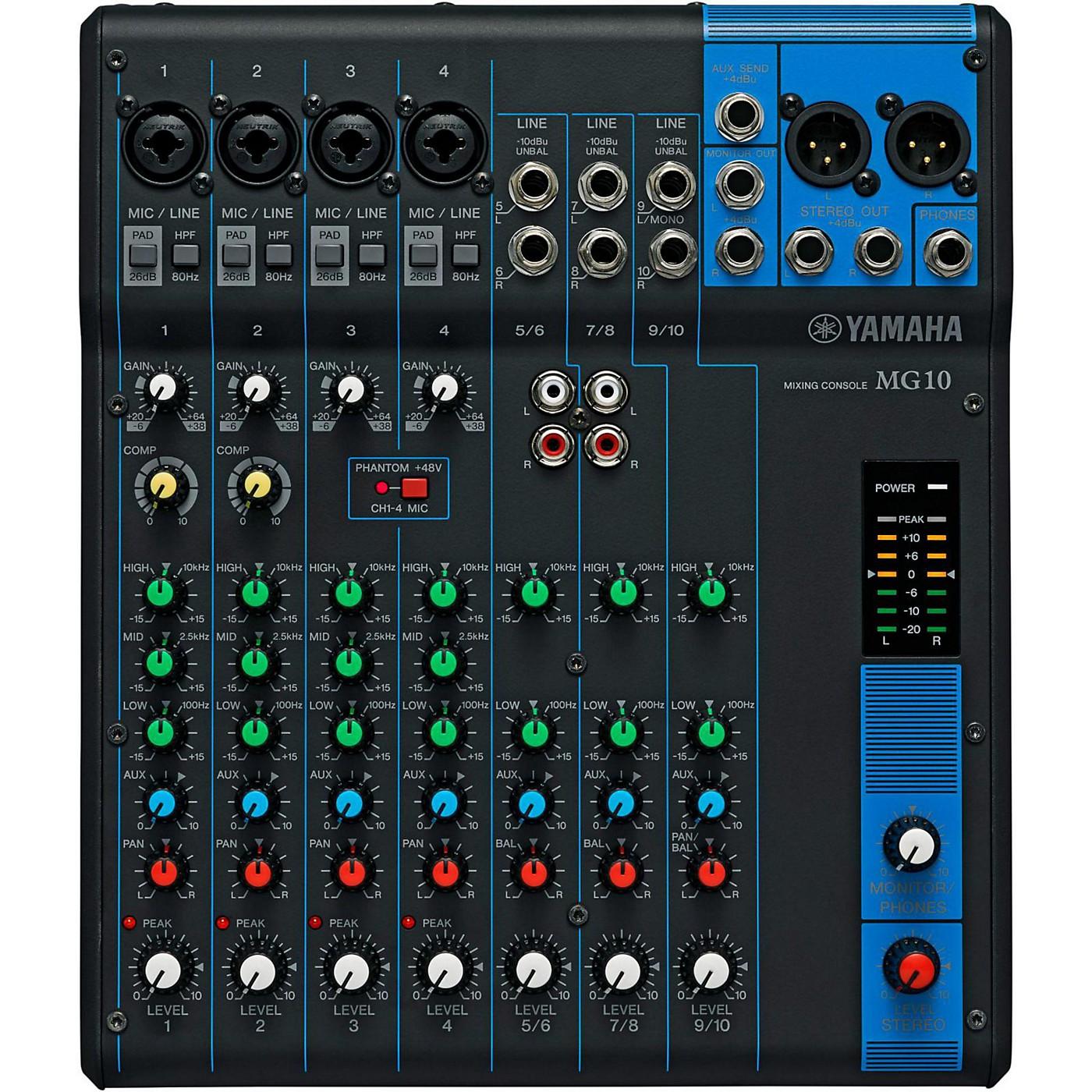 Yamaha MG10 10-Channel Mixer thumbnail