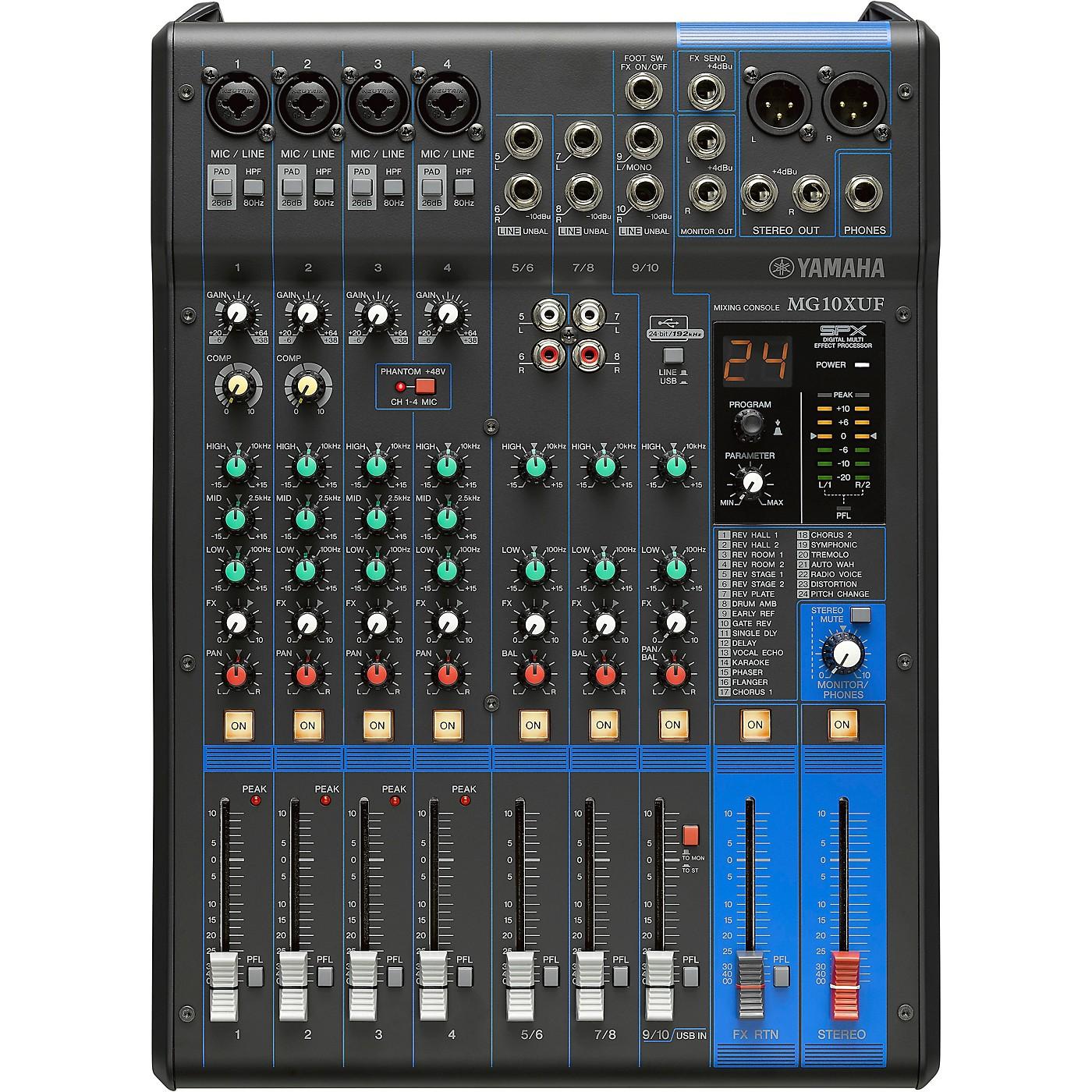 Yamaha MG10XUF 10-Channel Analog Mixer thumbnail