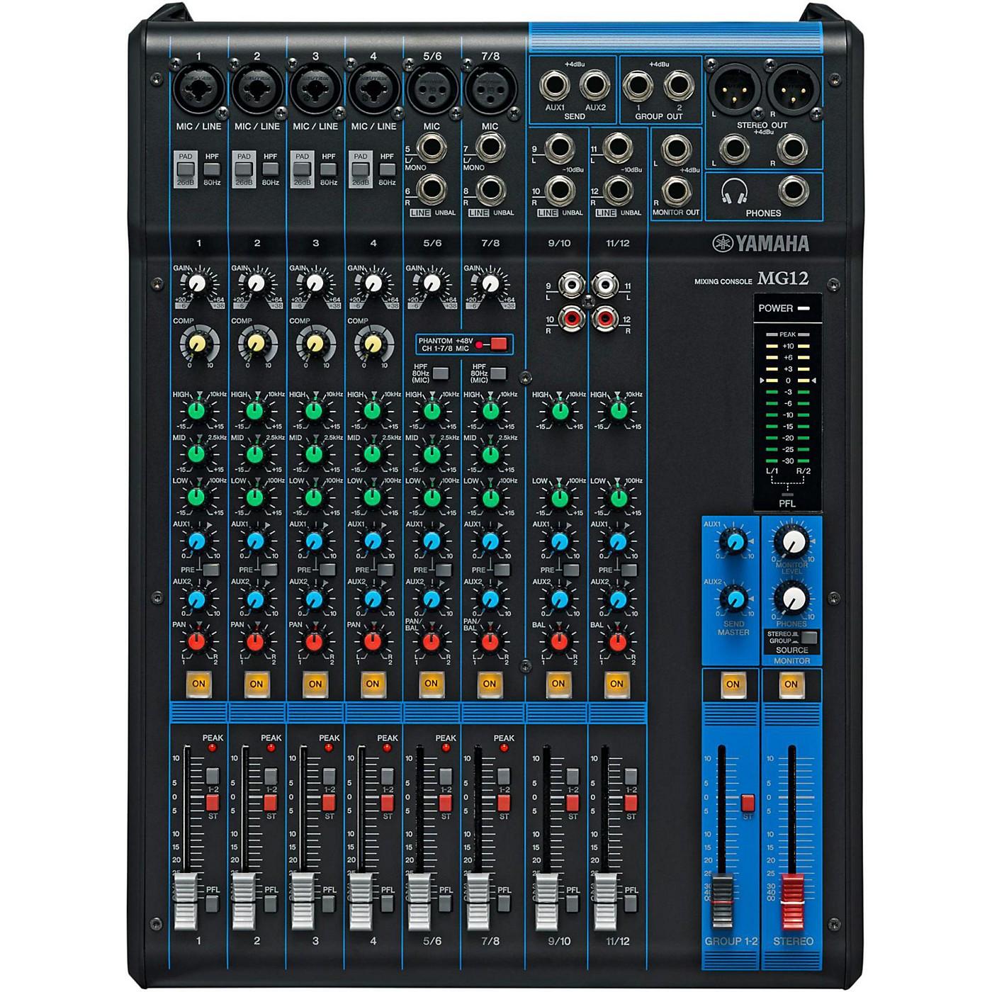 Yamaha MG12 12-Channel Mixer thumbnail