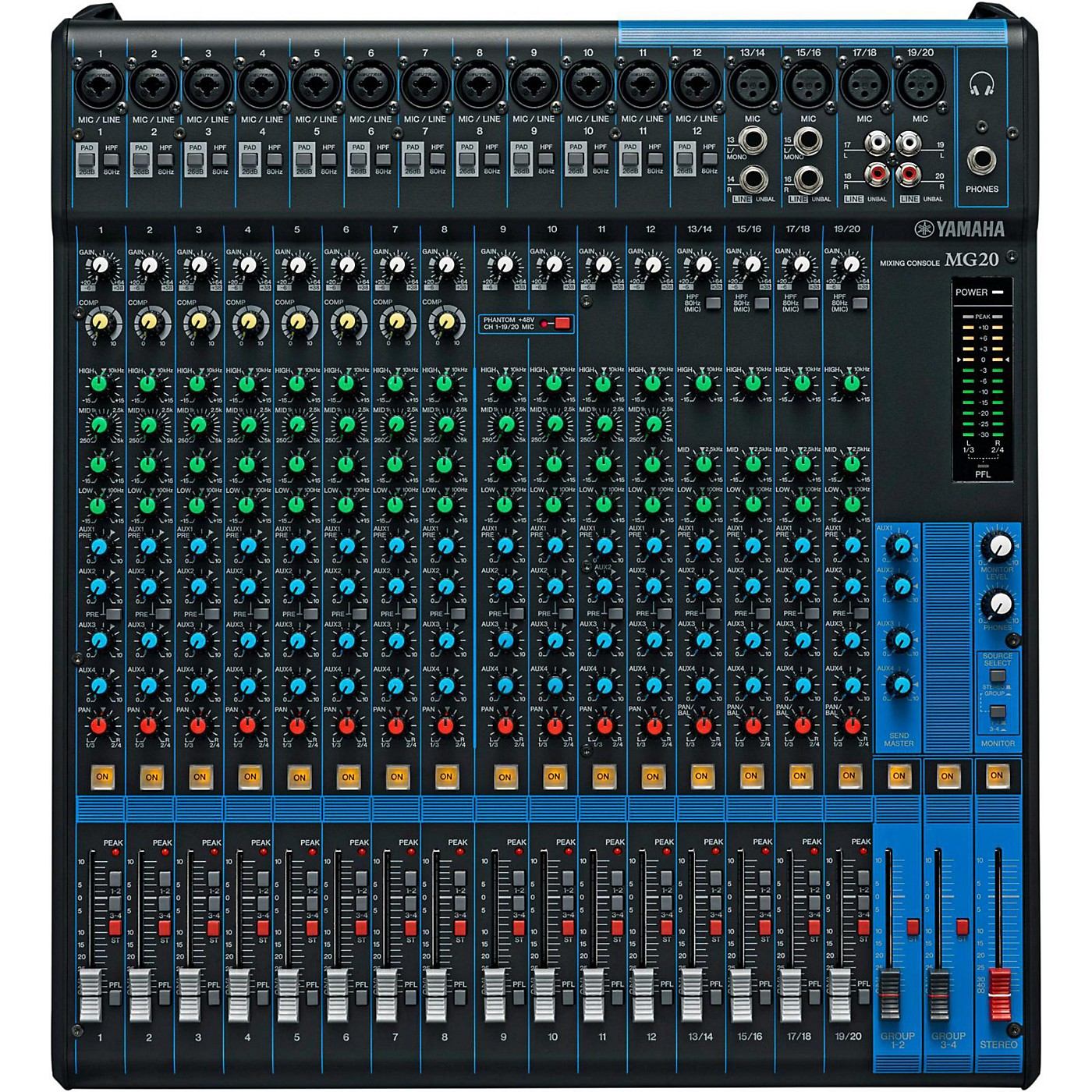 Yamaha MG20 20-Channel Mixer with Compression thumbnail