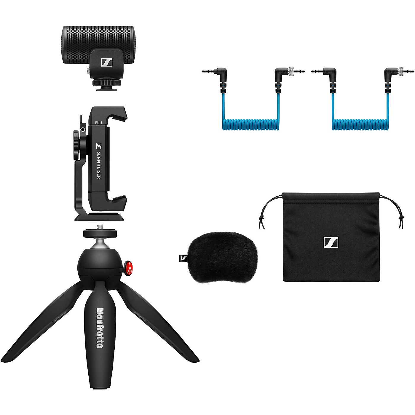 Sennheiser MKE 200 MOBILE KIT - Includes MKE 200 Directional On-Camera Microphone, Manfrotto PIXI Mini Tripod and Sennheiser Smartphone Clamp thumbnail