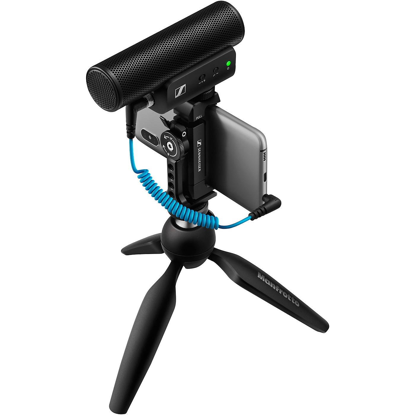 Sennheiser MKE 400 MOBILE KIT - Includes MKE 400 Shotgun Microphone, Manfrotto PIXI Mini Tripod and Sennheiser Smartphone Clamp thumbnail