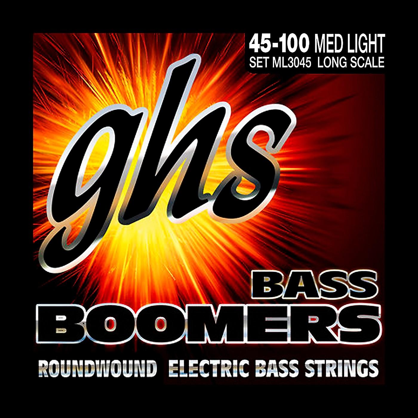 GHS ML3045 Boomers Medium Light Electric Bass Strings thumbnail