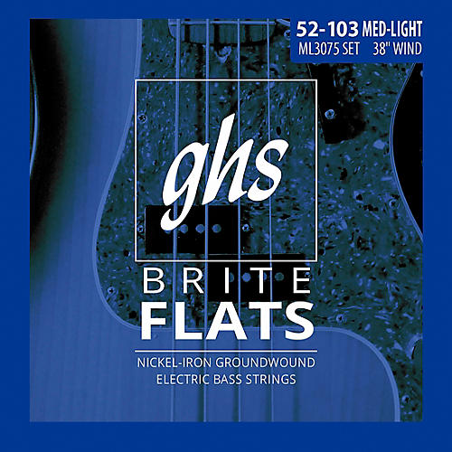 GHS ML3075 Brite Flats Flatwound Electric Bass Strings thumbnail