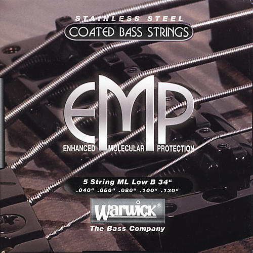 Warwick ML5B EMP COATED 5-String Bass Strings Medium Light thumbnail