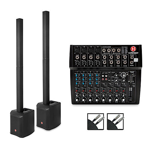 Harbinger MLS900 Personal Line Array Pair with Harbinger L1202 Mixer and Cables thumbnail
