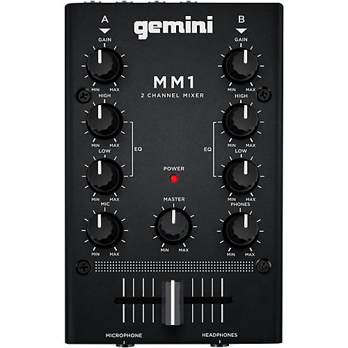 Gemini MM1 2 Channel Audio Mixer-thumbnail