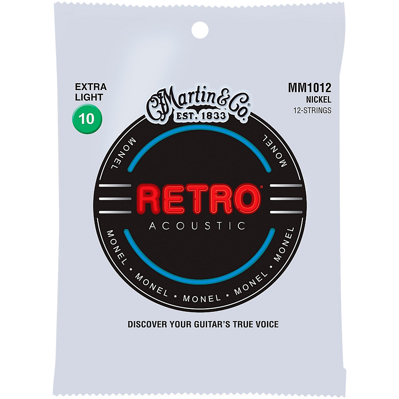 Martin MM102 Retro Extra Light 12-String Guitar Strings thumbnail