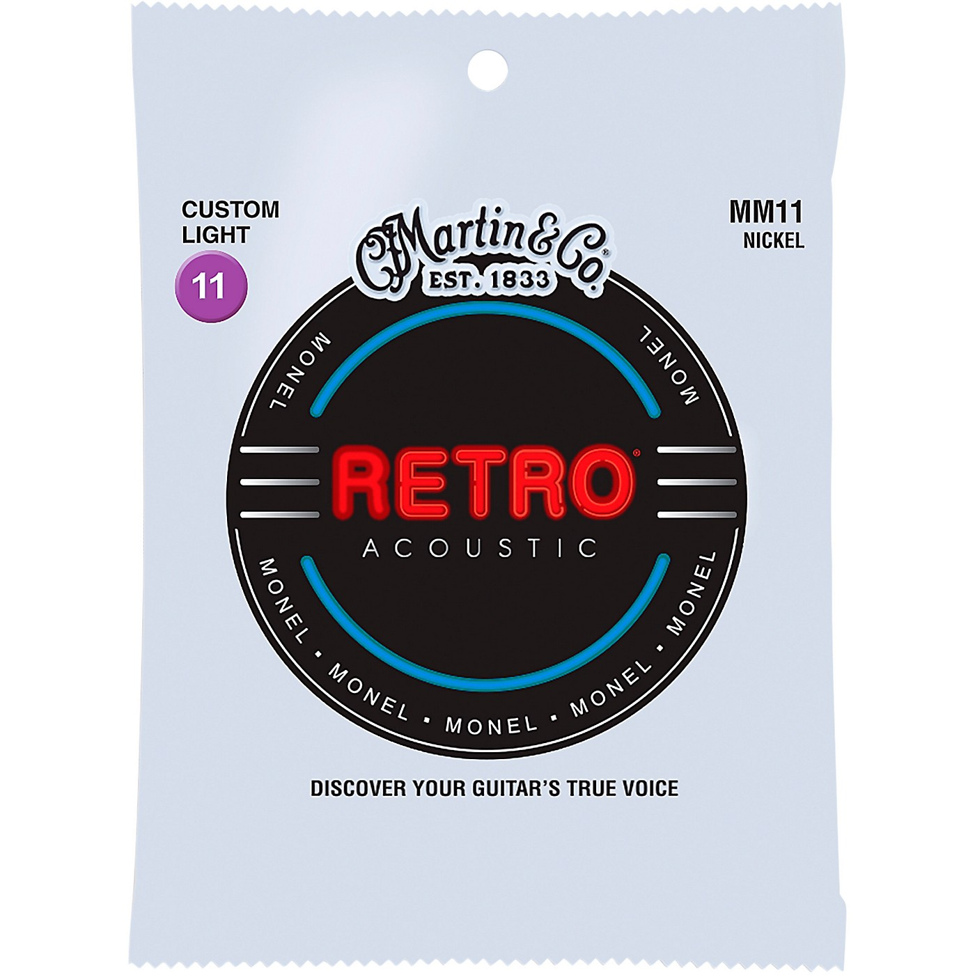Martin MM11 Retro Custom Light Acoustic Guitar Strings thumbnail