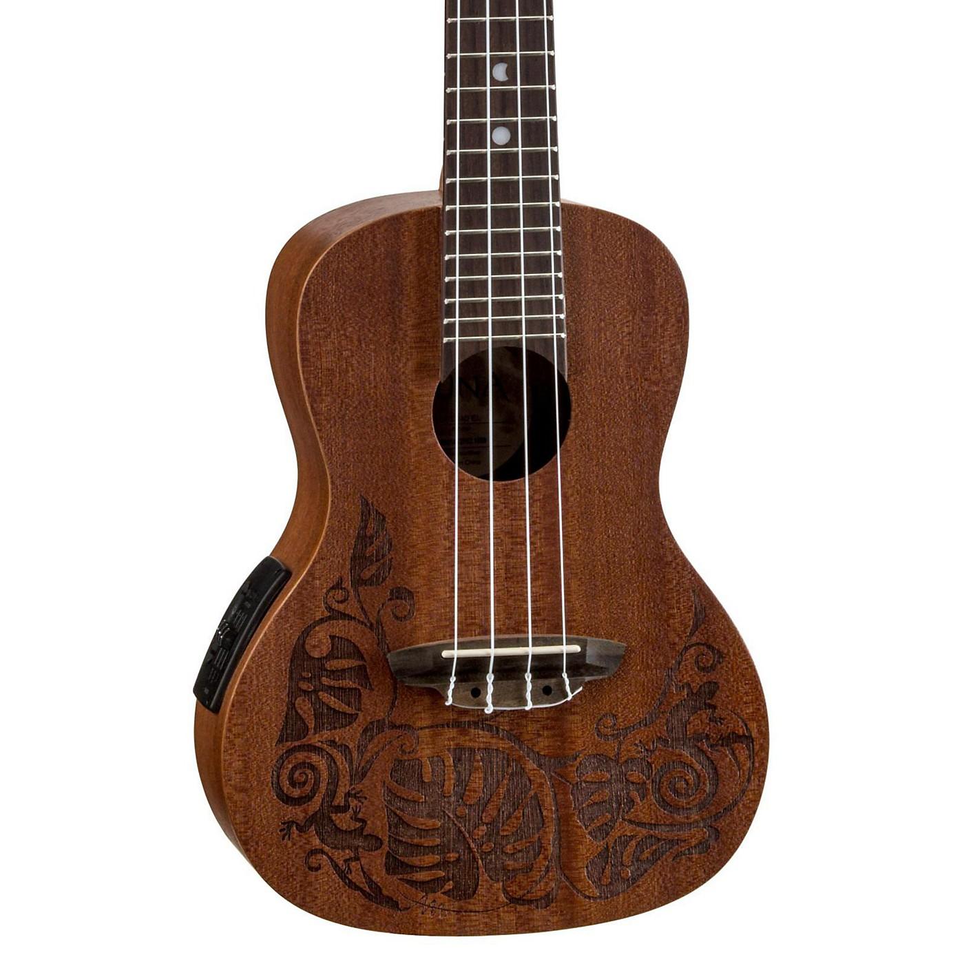 Luna Guitars MO EL Concert Acoustic-Electric Ukulele thumbnail