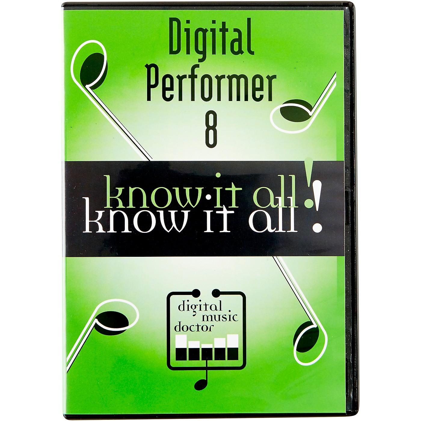 Digital Music Doctor MOTU Digital Performer 8 Know It All! Video Tutorial thumbnail