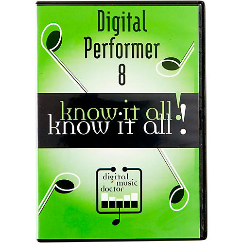Digital Music Doctor MOTU Digital Performer 8 Know It All! Video Tutorial-thumbnail