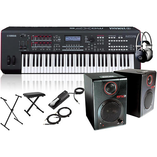 Yamaha MOXF6 61-Key Semi-Weighted Synth with RPM3 Monitors, Stand, Headphones, Bench and Sustain Pedal thumbnail