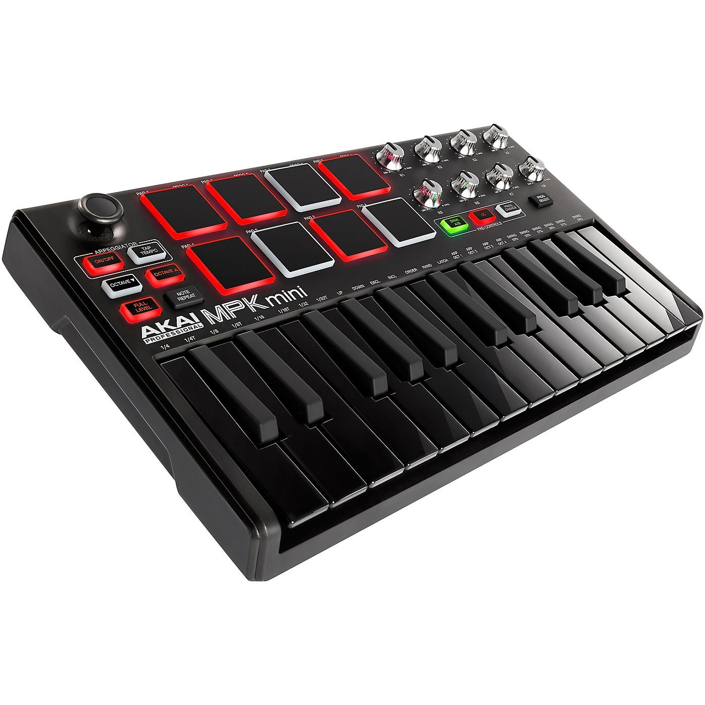 Akai Professional MPK Mini MKII Controller Limited Edition Black on Black thumbnail