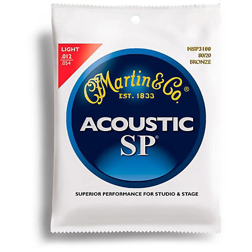 Martin MSP3100 SP 80/20 Bronze Light Acoustic Guitar Strings thumbnail