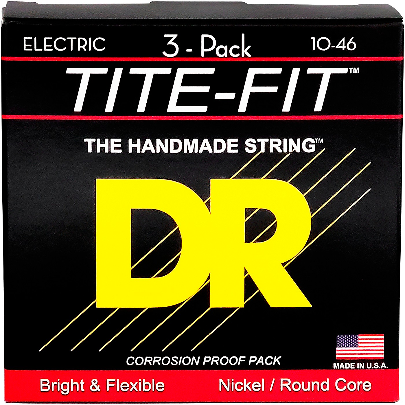 DR Strings MT-10 Tite-Fit Medium Electric Guitar Strings 3-Pack thumbnail