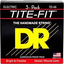 DR Strings MT-10 Tite-Fit Medium Electric Guitar Strings 3-Pack