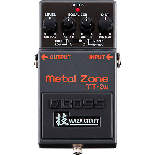 Boss MT-2W Metal Zone Waza Craft Distortion Guitar Effects Pedal thumbnail