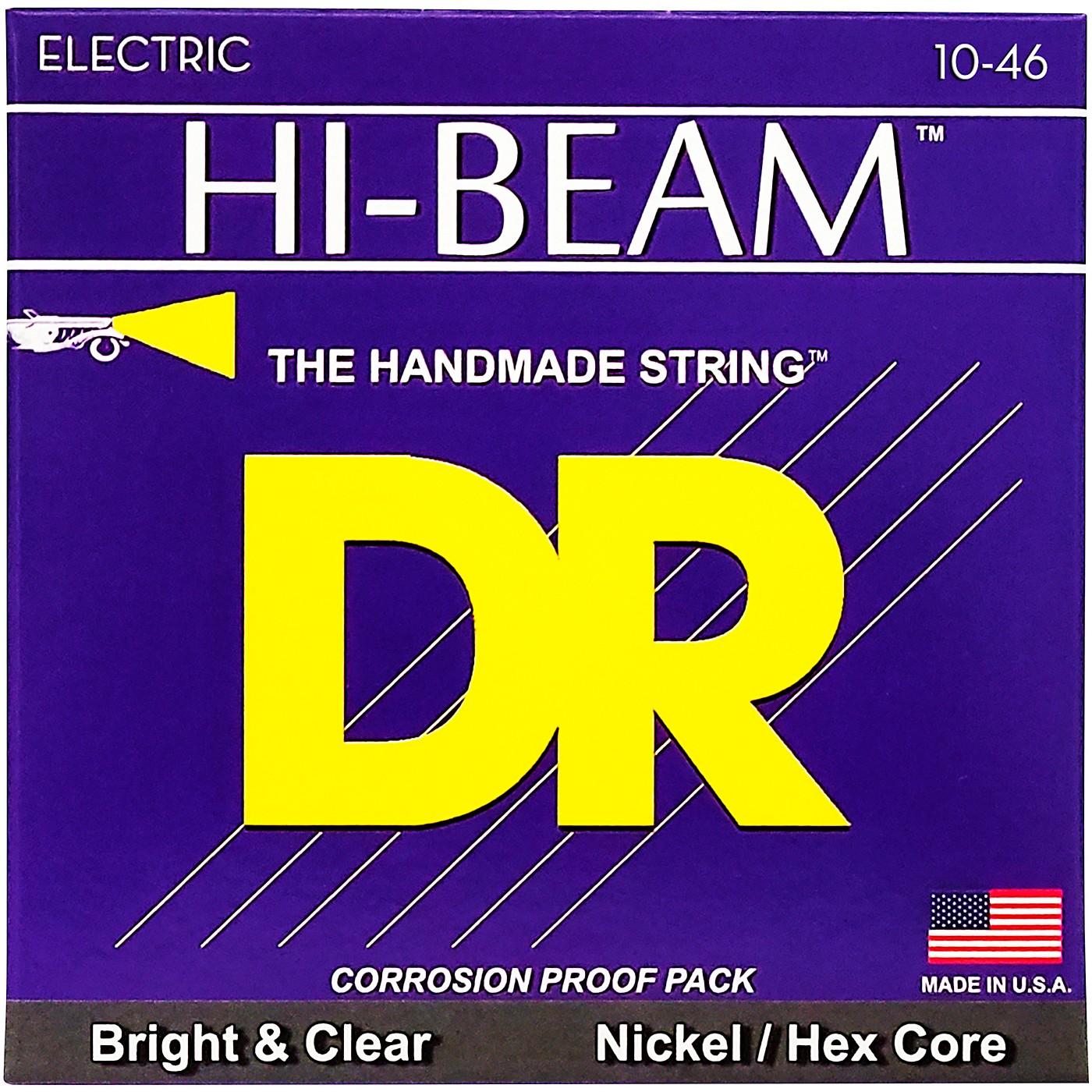 DR Strings MTR10 Hi-Beam Nickel Medium Electric Guitar Strings thumbnail