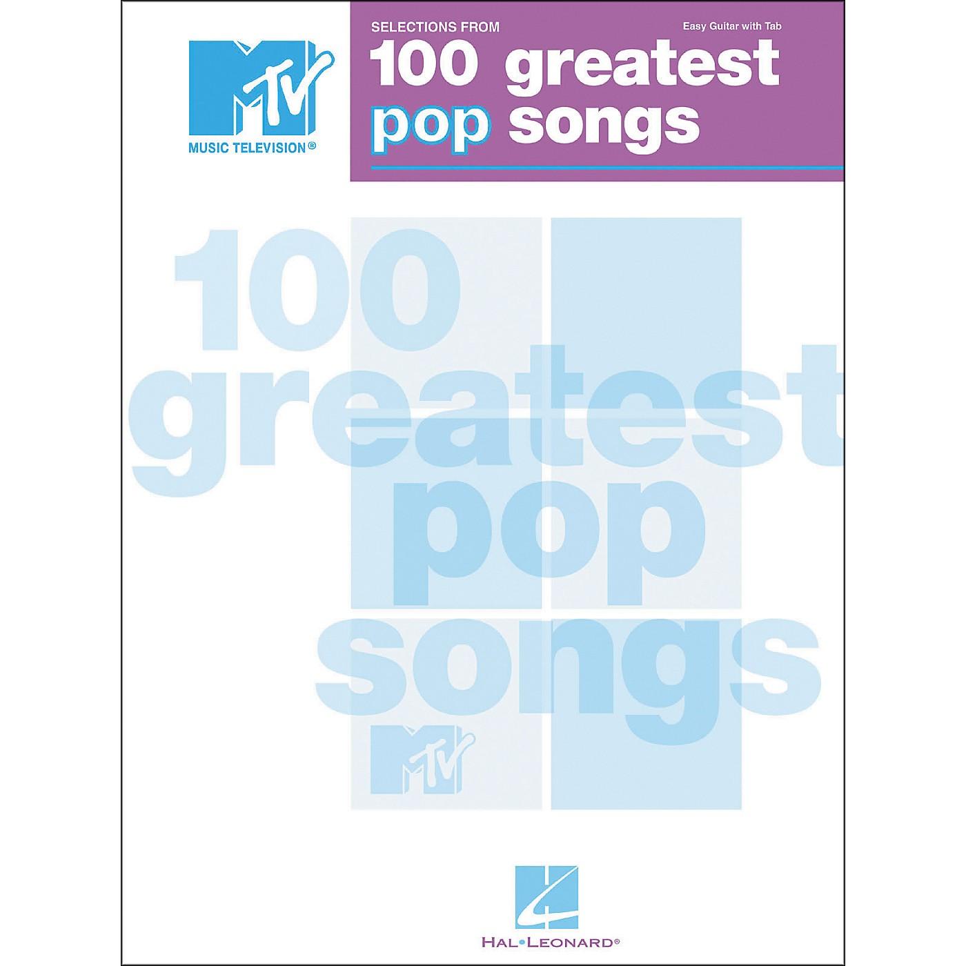 Hal Leonard MTV 100 Greatest Pop Songs Easy Guitar Tab Songbook thumbnail