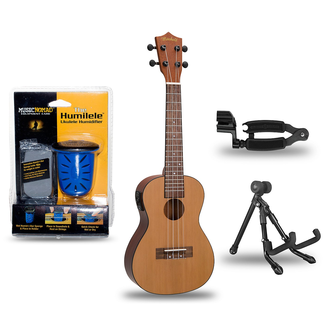 Mitchell MU50SE Acoustic-Electric Concert Ukulele Deluxe Package thumbnail