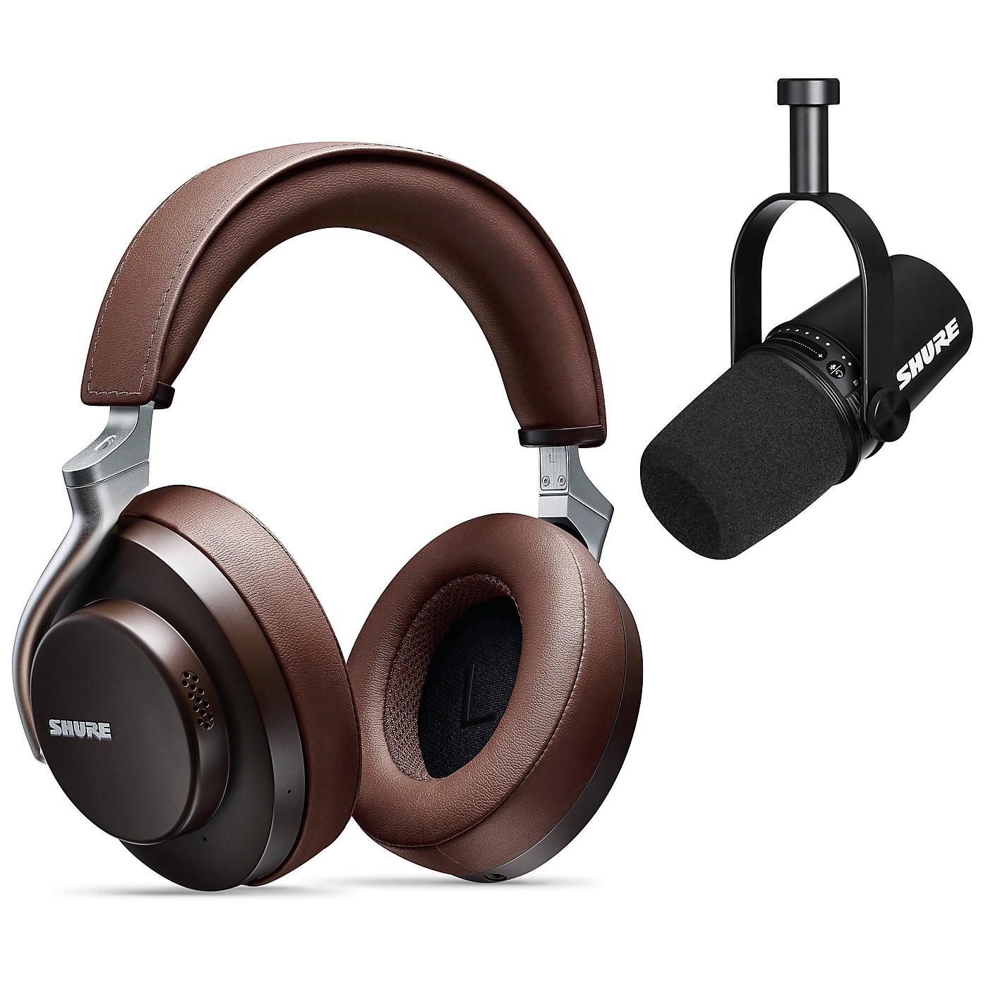 Shure MV7-K USB Microphone and AONIC 50 Headphones Content Creator Bundle thumbnail