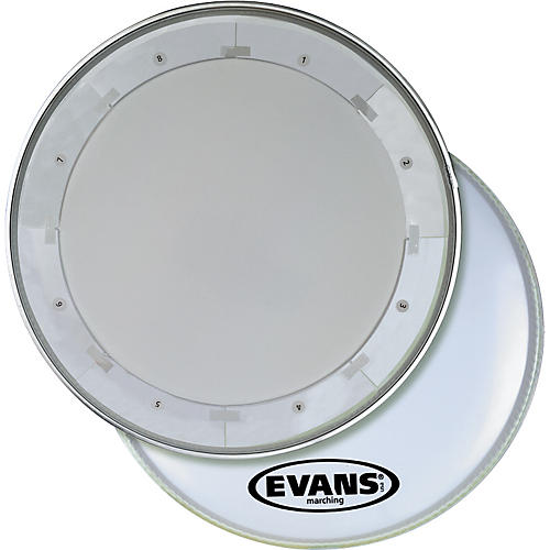 Evans MX1 White Marching Bass Drum Head thumbnail