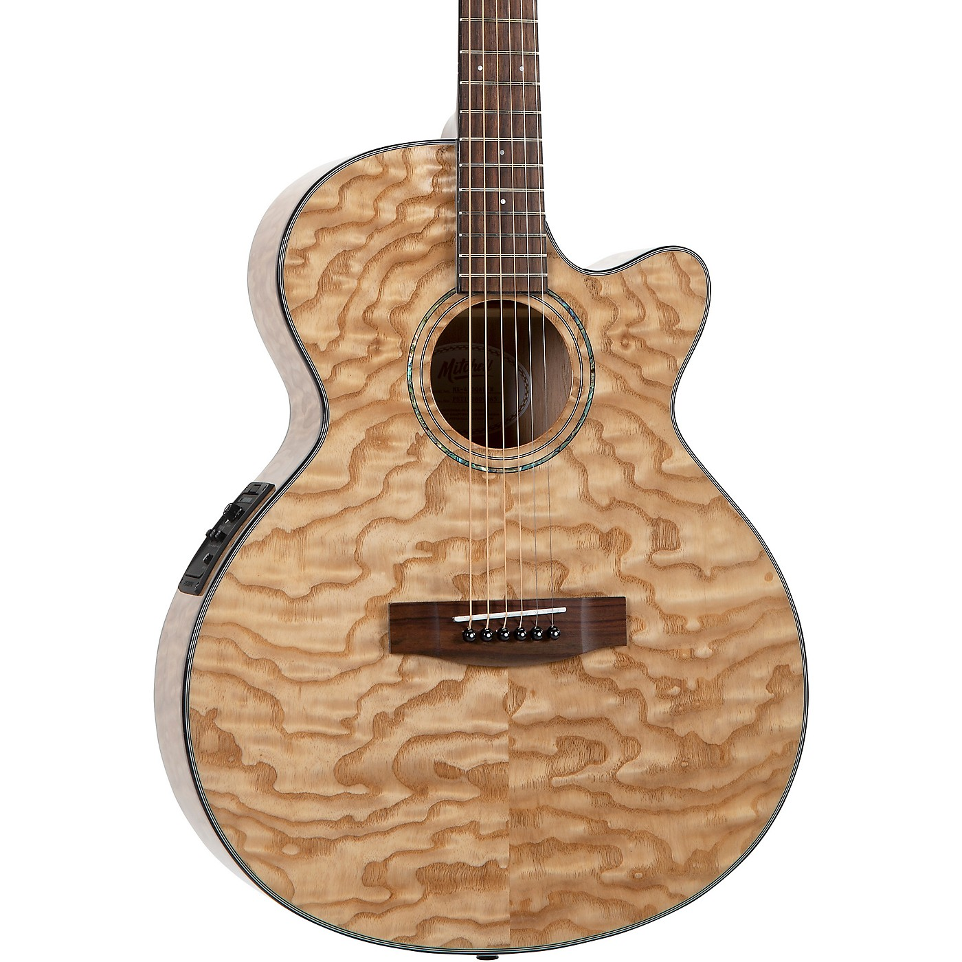 Mitchell MX430-QAB-NAT Exotic Series Acoustic-Electric Quilted Ash Burl thumbnail