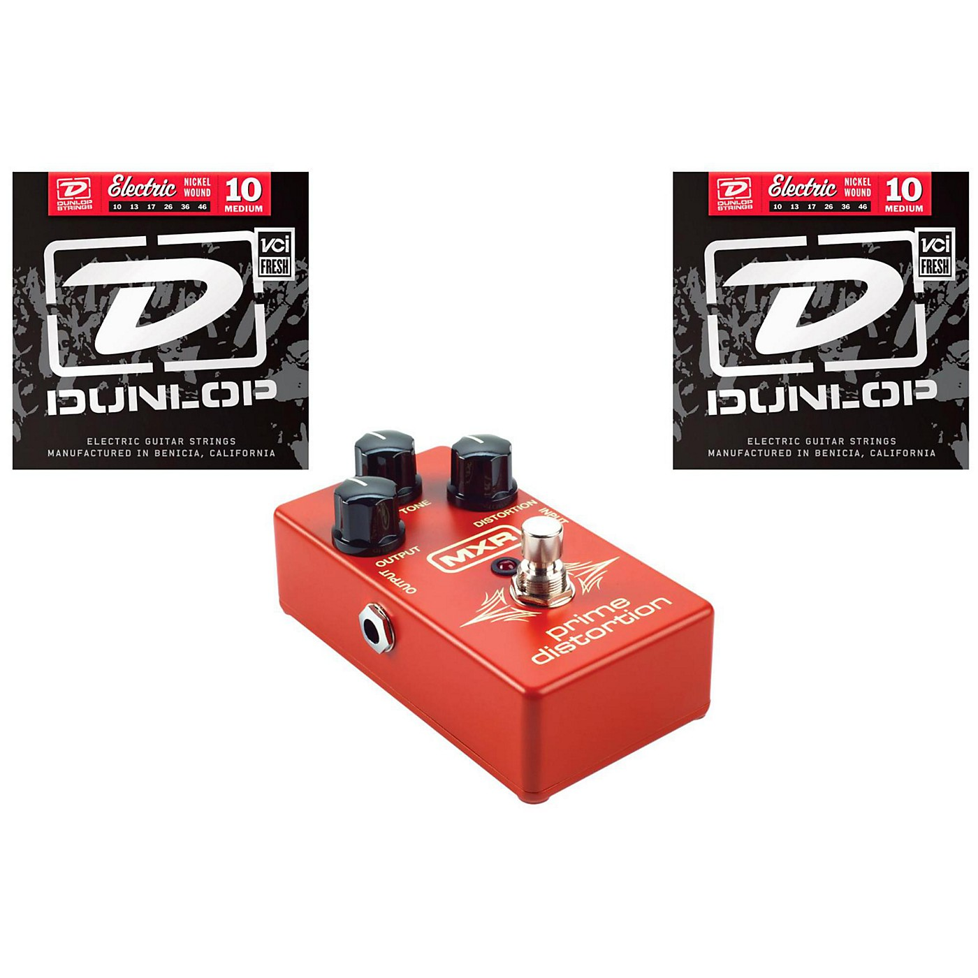Dunlop MXR M69 Pedal with Two Sets of Dunlop DEN1046 Strings thumbnail