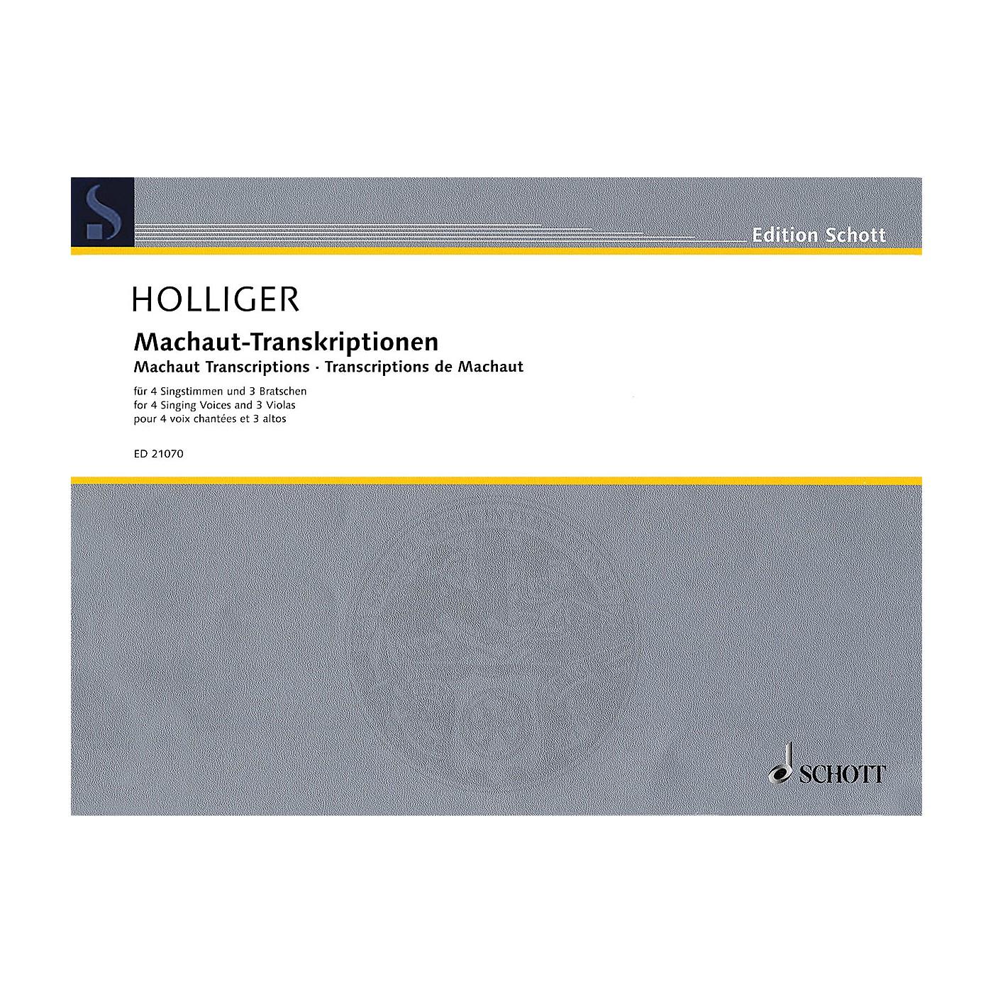 Schott Machaut Transcriptions Schott Series Softcover  by Heinz Holliger thumbnail