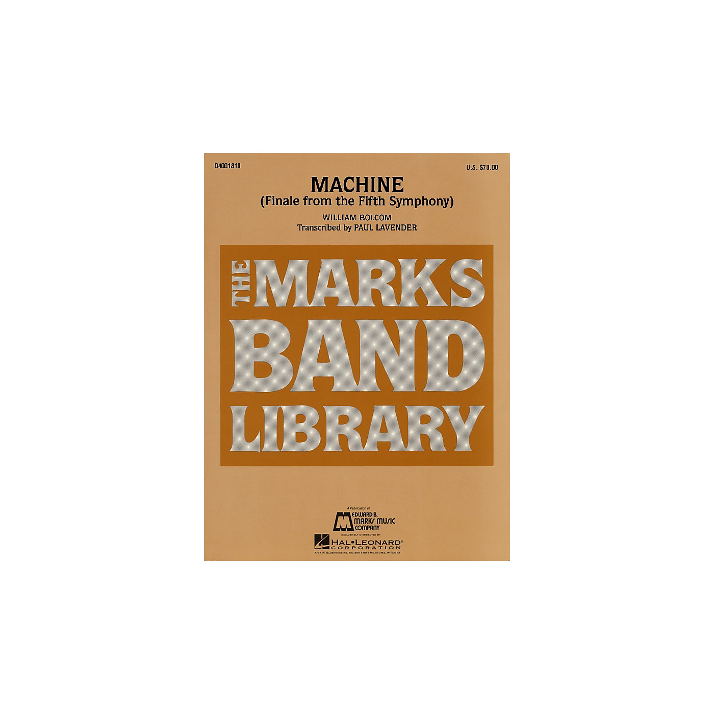 Hal Leonard Machine (Finale from the Fifth Symphony) Concert Band Level 4-5 Arranged by Paul Lavender thumbnail