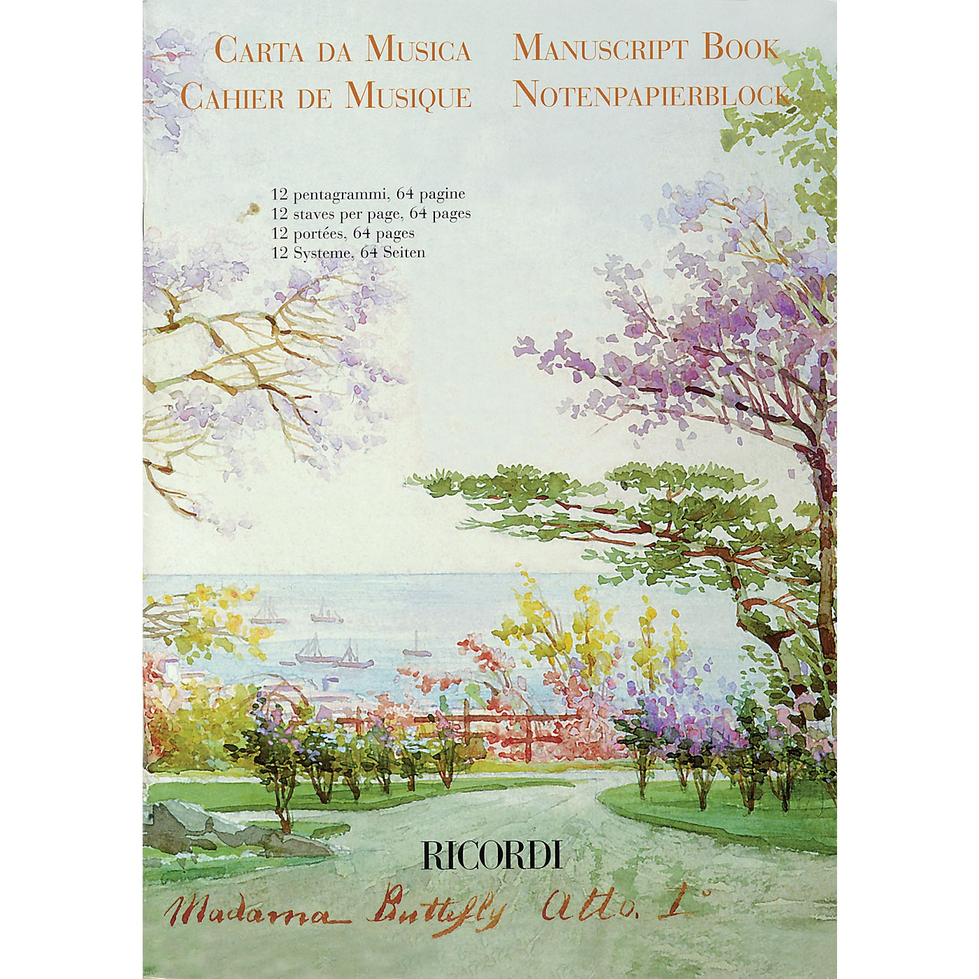 Ricordi Madama Butterfly Manuscript Paper (64 pages, 12 staves per page) Misc Series thumbnail