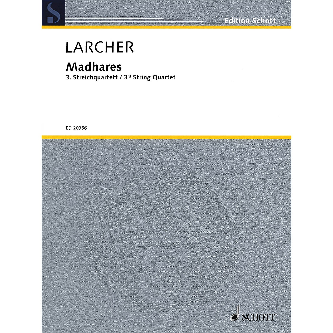 Schott Madhares (Third String Quartet) Schott Series Composed by Thomas Larcher thumbnail