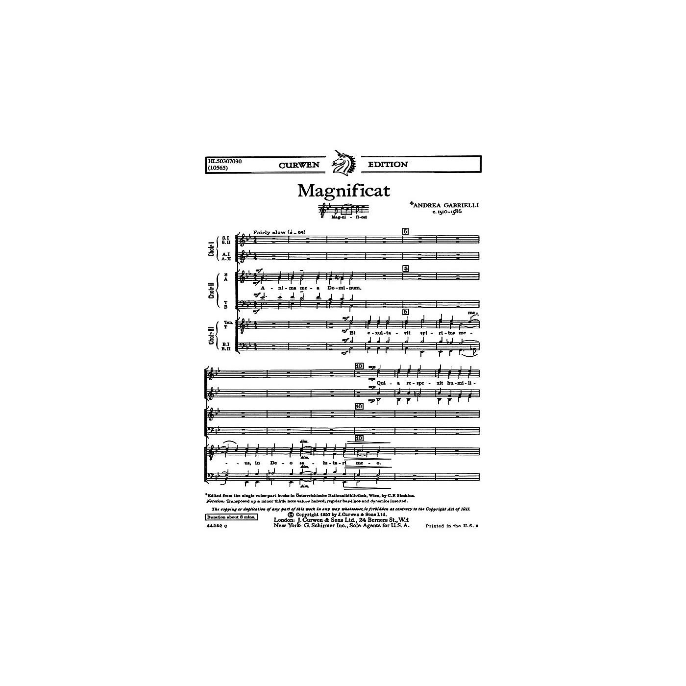 G. Schirmer Magnificat For Three Choruses SATB TTBB SSAA SATB TTBB SA composed by A Gabrielli thumbnail