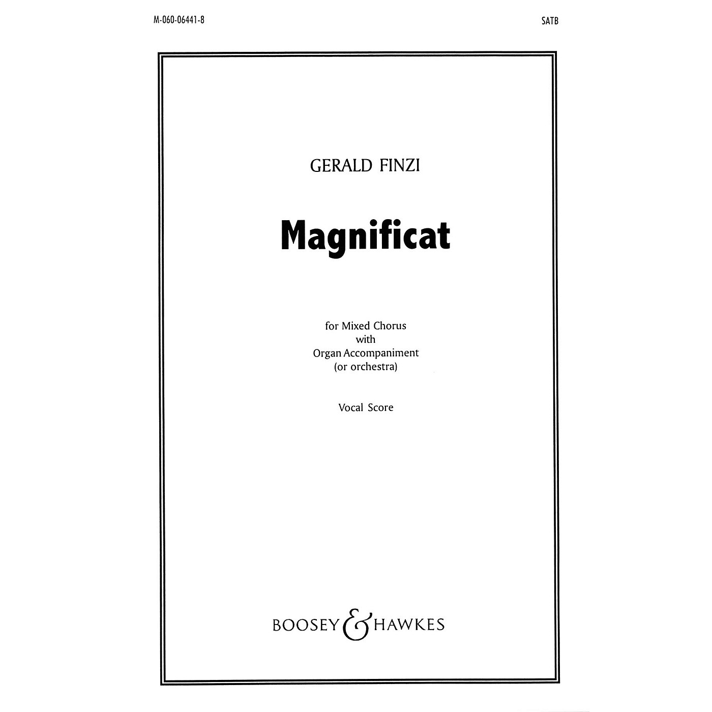 Boosey and Hawkes Magnificat (SATB and Organ) SATB Score composed by Gerald Finzi thumbnail