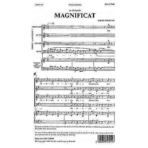 Novello Magnificat SSAATTBB Composed by Giles Swayne thumbnail