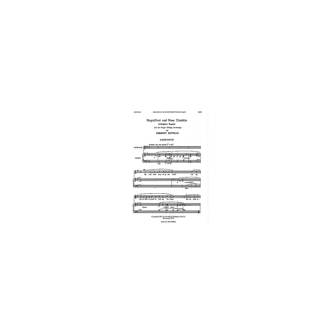 Novello Magnificat and Nunc Dimittis (Collegium Regale) SATB Composed by Herbert Howells thumbnail