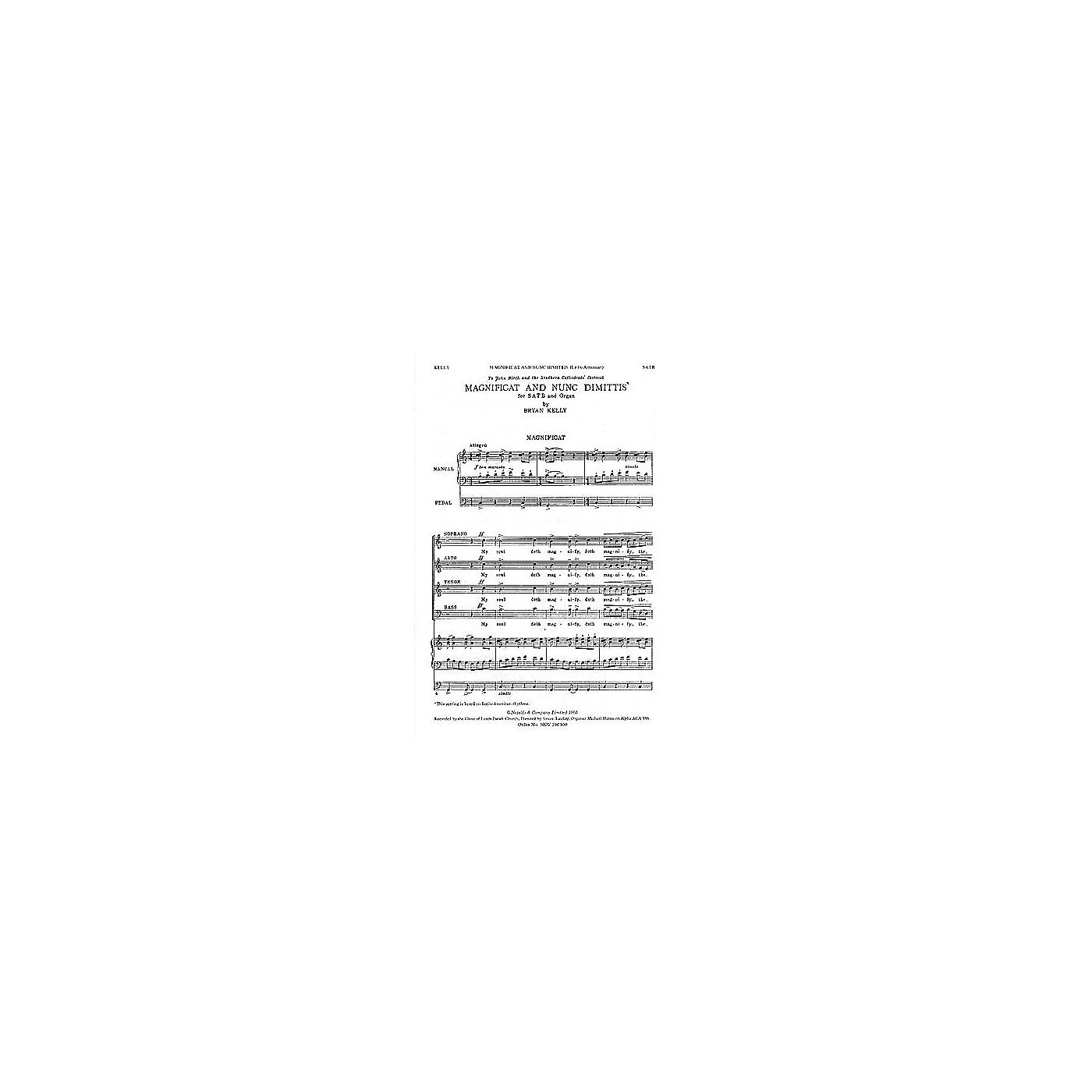 Novello Magnificat and Nunc Dimittis (Latin American) SATB Composed by Bryan Kelly thumbnail