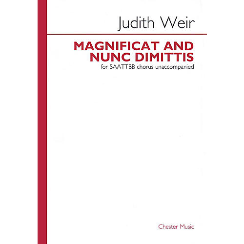 Chester Music Magnificat and Nunc Dimittis SAATTBB A CAPPELLA Composed by Judith Weir thumbnail