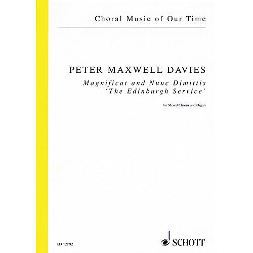 Schott Magnificat and Nunc Dimittis The Edinburgh Service (SATB and Organ) Vocal Score by Peter Maxwell Davies thumbnail