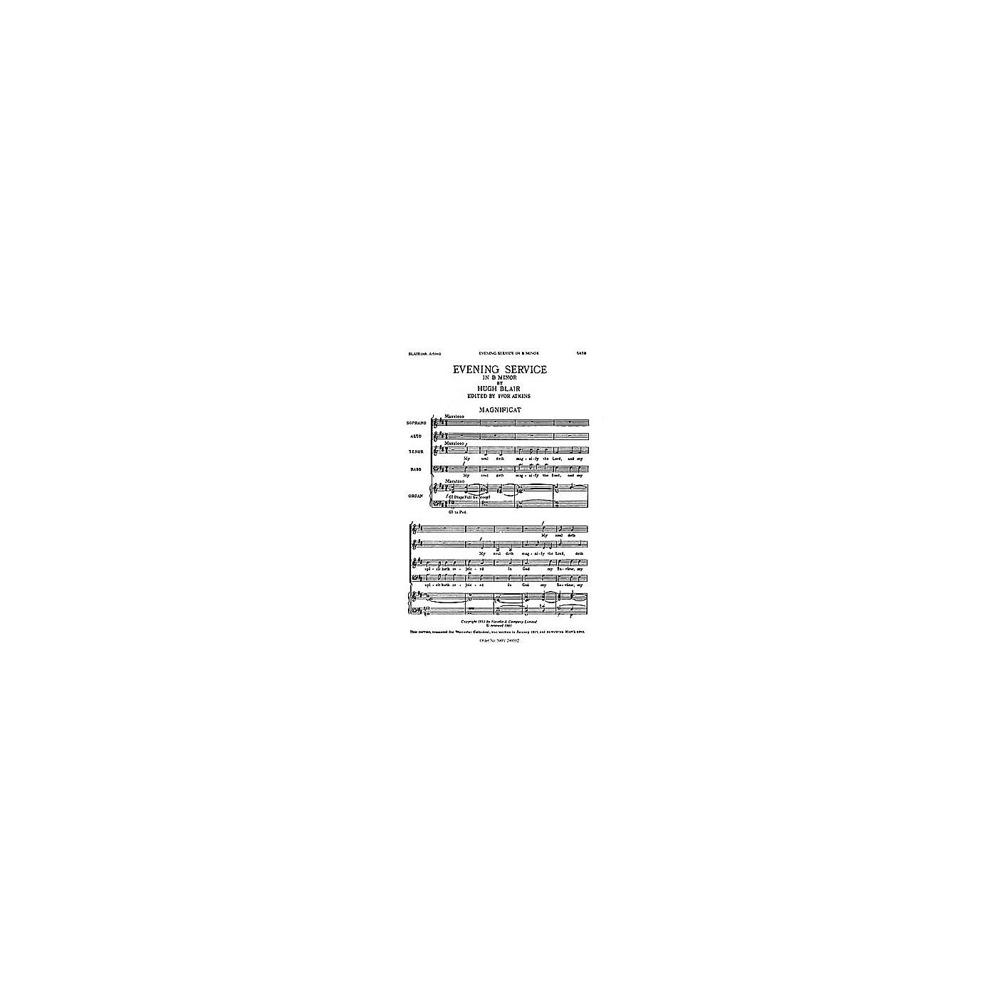 Novello Magnificat and Nunc Dimittis in B Minor SATB Composed by Hugh Blair thumbnail