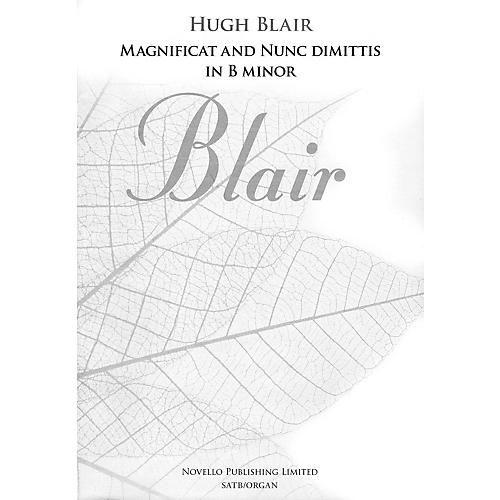 Novello Magnificat and Nunc Dimittis in B Minor SATB, Organ Composed by Hugh Blair thumbnail