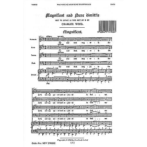 Novello Magnificat and Nunc Dimittis in D SATB, Organ Composed by Charles Wood thumbnail