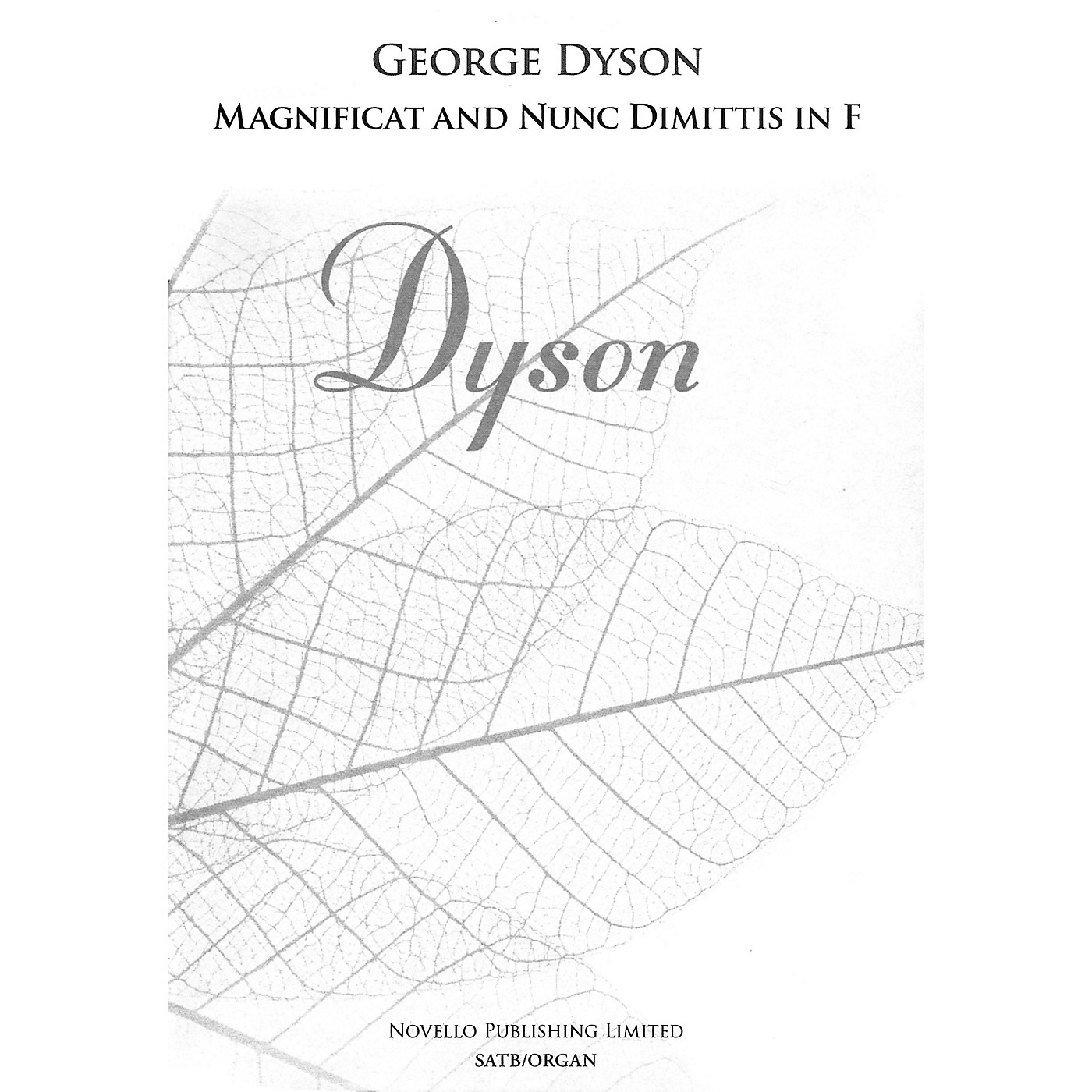 Novello Magnificat and Nunc Dimittis in F (SATB and Organ) SATB Composed by George Dyson thumbnail
