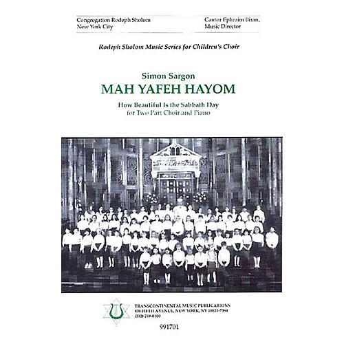 Transcontinental Music Mah Yafeh Hayom (How Beautiful Is the Sabbath Day) 2-Part arranged by Simon Sargon thumbnail
