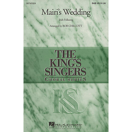Hal Leonard Mairi's Wedding SAB by The King's Singers arranged by Bob Chilcott thumbnail