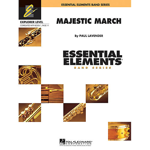 Hal Leonard Majestic March Concert Band Level 0.5 Composed by Paul Lavender thumbnail