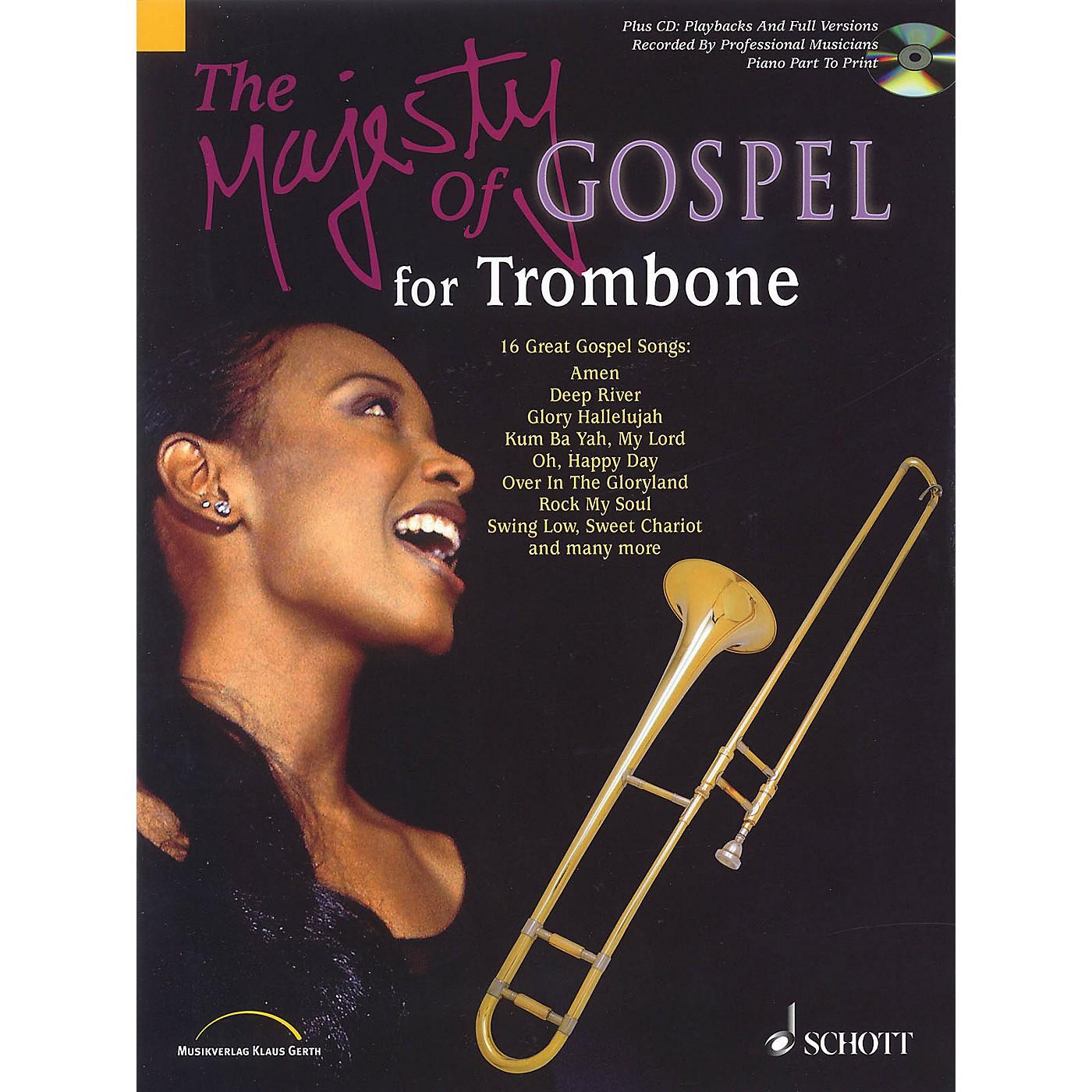 Schott Majesty of Gospel (Trombone) Schott Series Softcover with CD thumbnail