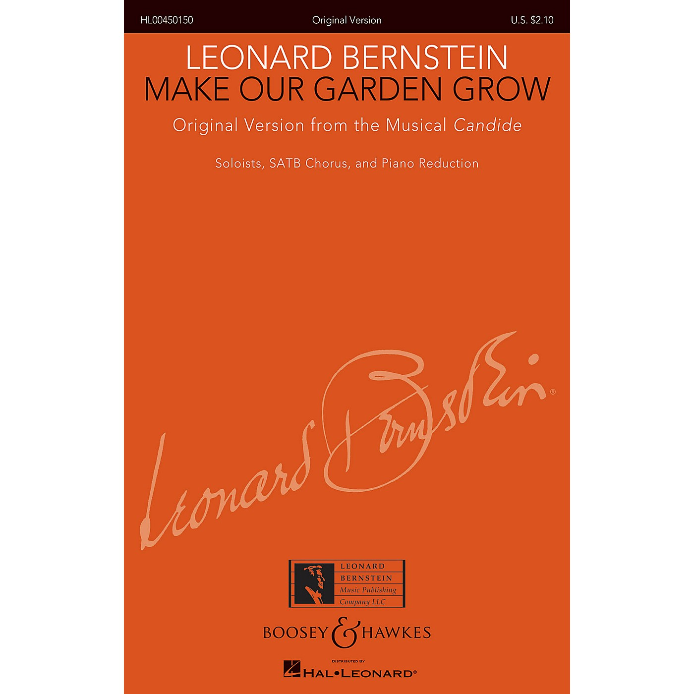 Boosey and Hawkes Make Our Garden Grow from Candide SATB Composed by Leonard Bernstein thumbnail